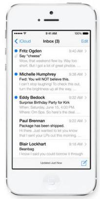 iOS 7 inbox