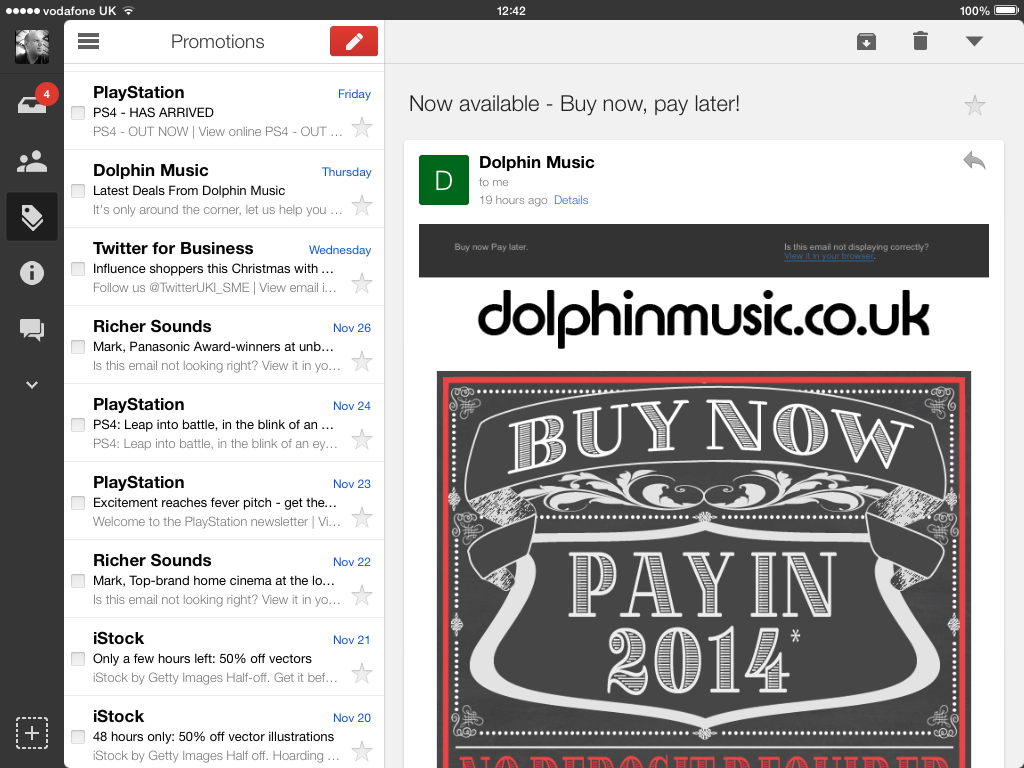 Gmail iPad app