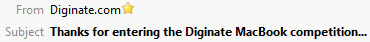 Diginate Subject Line