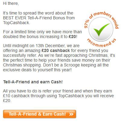 Cashback Incentive