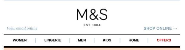 M&S Email Nav