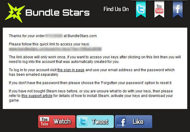 Bundle Stars Confirmation