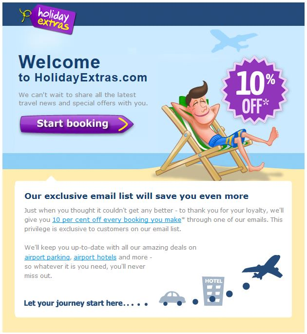 Holiday Extras Welcome