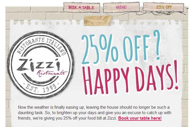 Zizzi Promotion