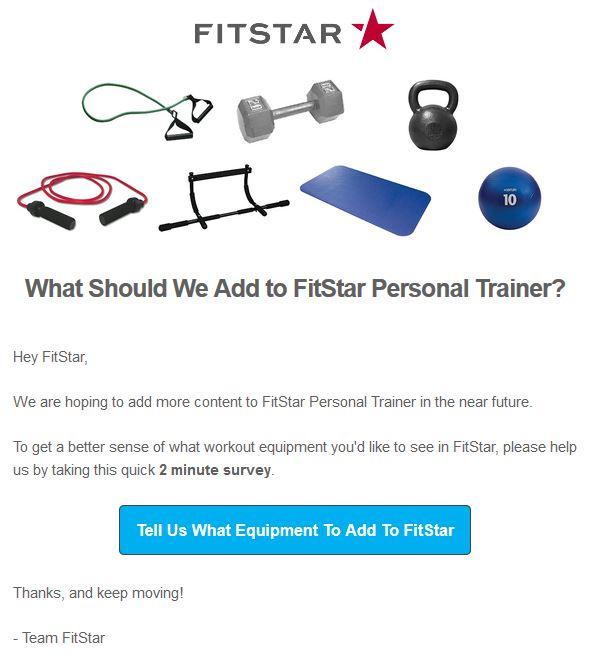 Fitstar Survey