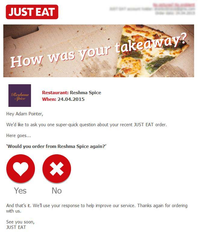 Just Eat Feedback