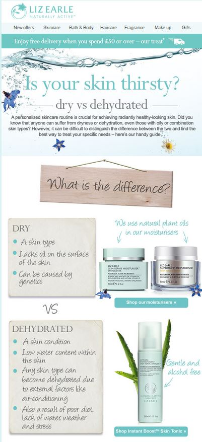 Liz Earle Tips