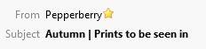 Pepperberry Subject