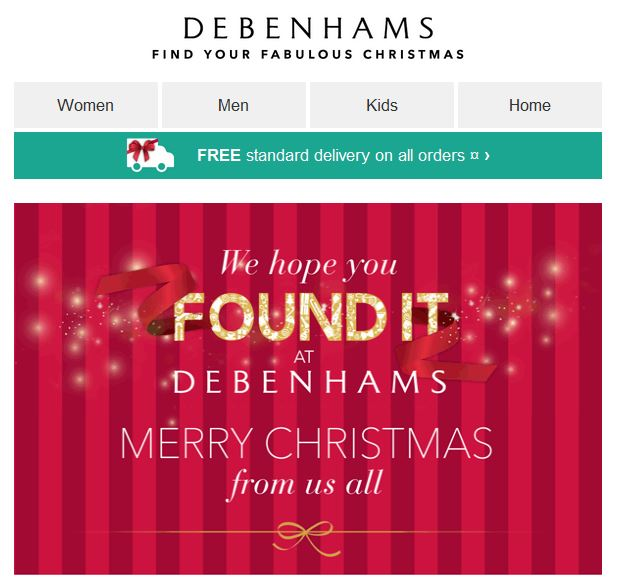 Debenhams Christmas 1