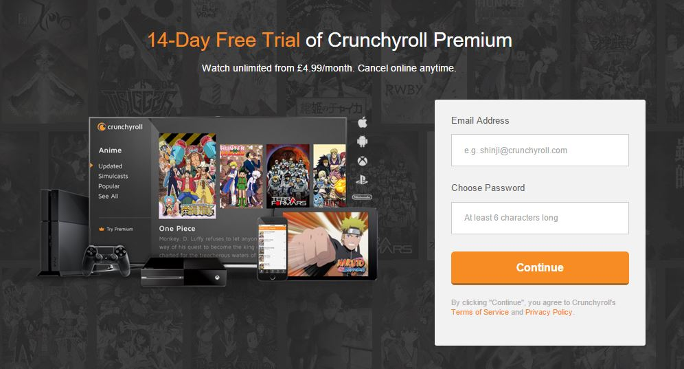 Crunchroll Signup