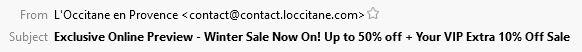 L'Occitane Subject