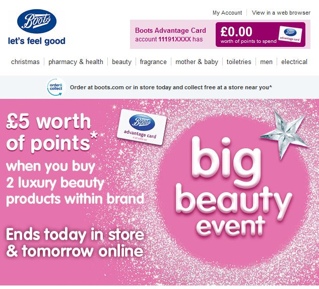 Boots Email