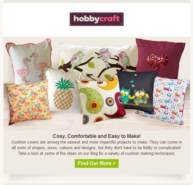Hobbycraft Cushion