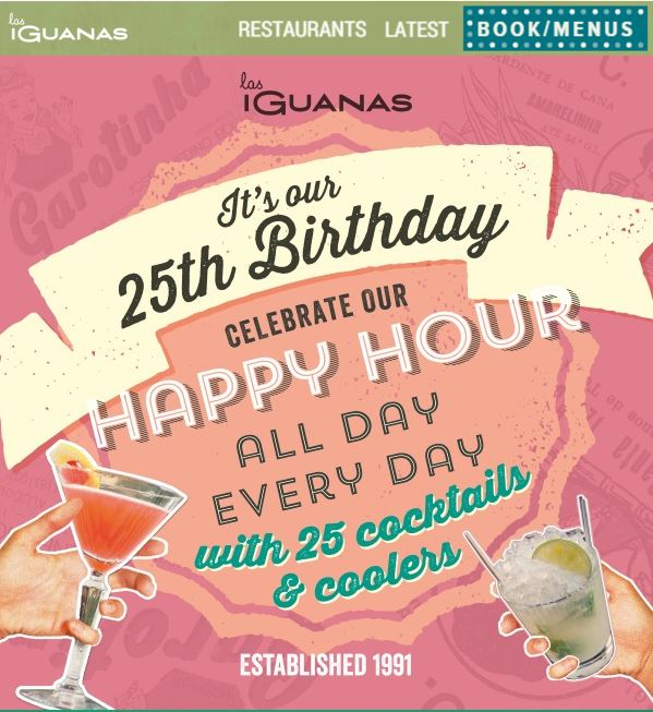 Las Iguanas Birthday