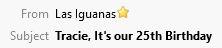 Las Iguanas Subject