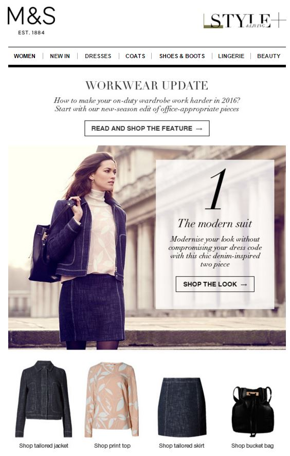 M&S Email