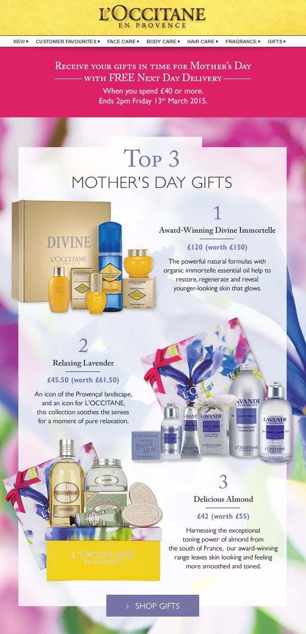 L'Occitane Mother's Day