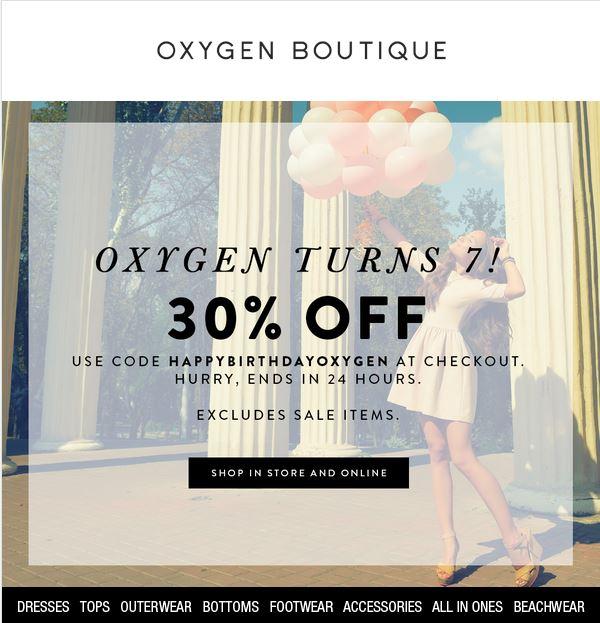 Oxygen Birthday