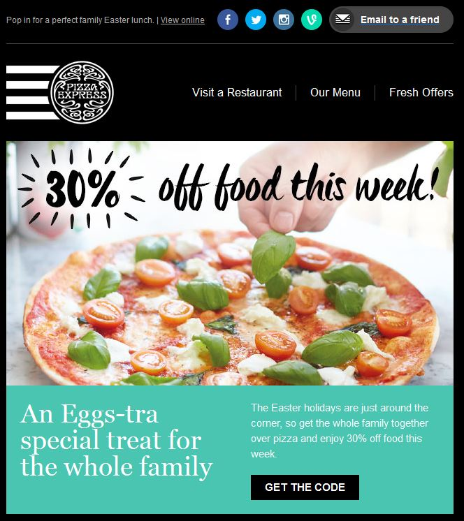 Pizza Express Easter