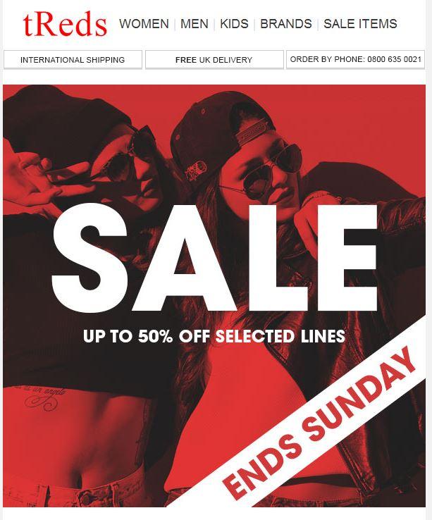 tReds Sale