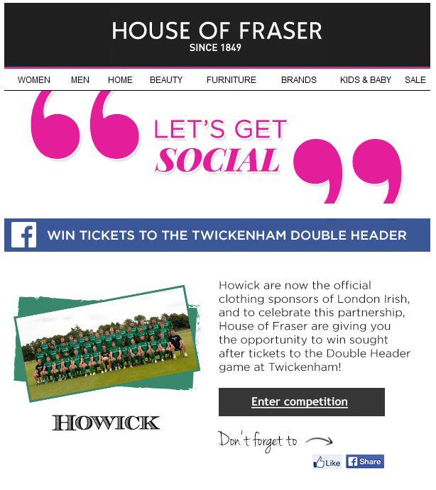 House of Fraser Social 1
