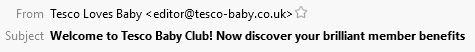 Tesco Baby Subject