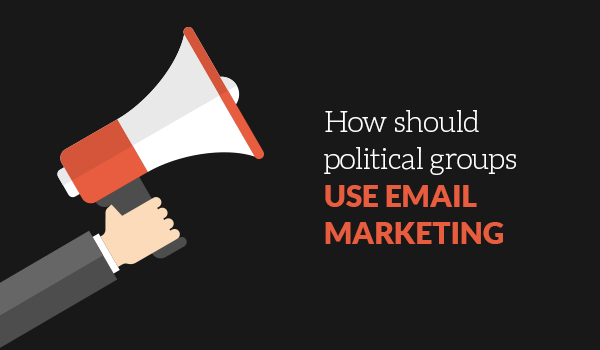How should political groups use email rhetoric