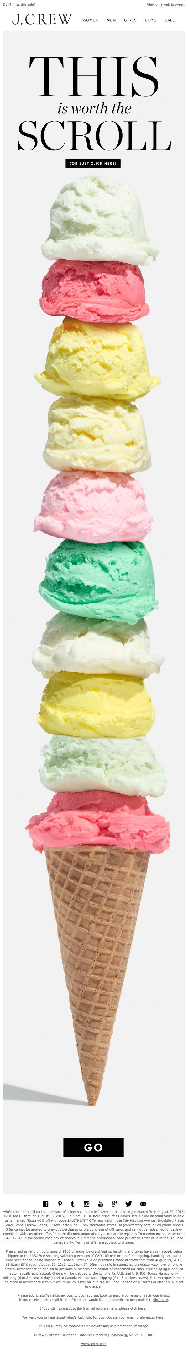 Summer Icecream Email