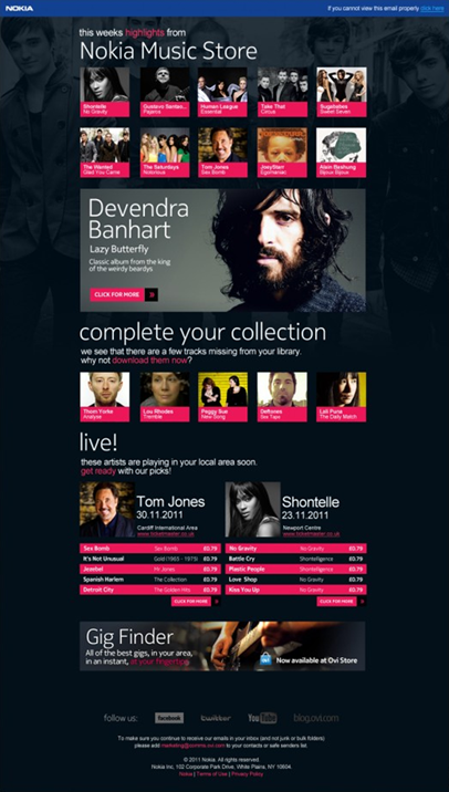 Email Template Design Fit For Purpose Nokia