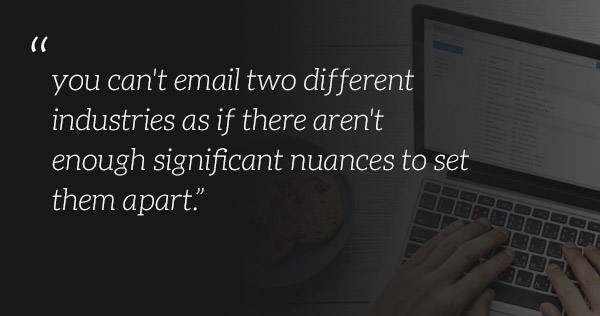 Email based upon differences