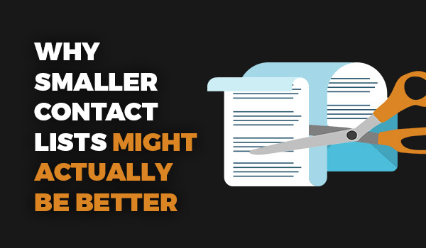 Why smaller contact lists might be better