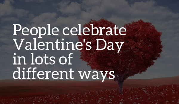 People celebrate valentine's day