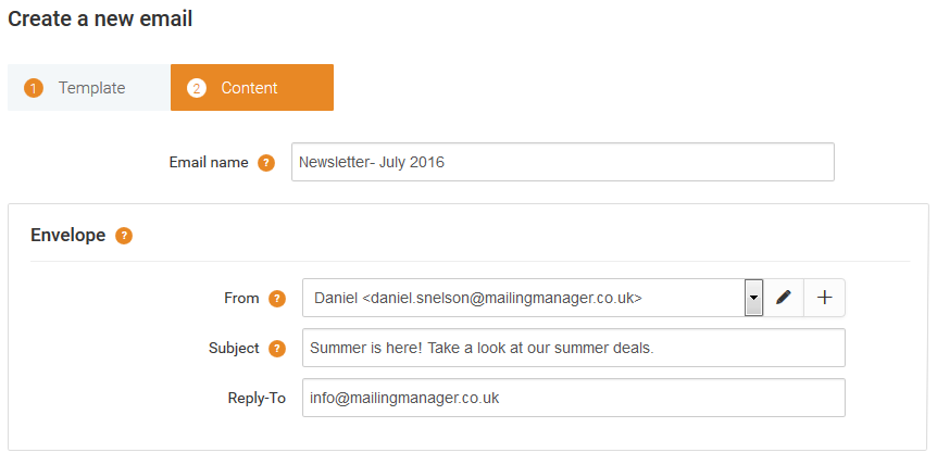 Creating a New Email Campaign in the WYSIWYG Editor