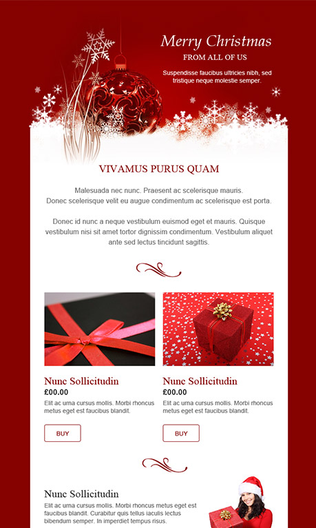 Free Christmas Email Template