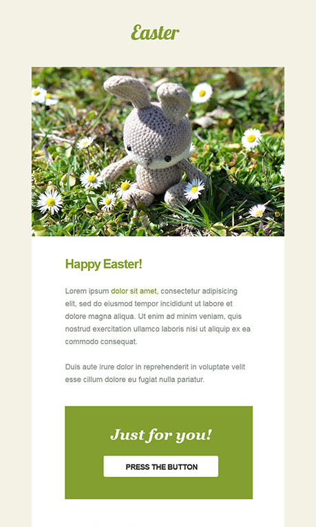 Free Easter Email Template
