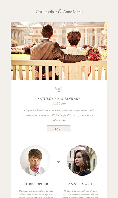 free wedding invite email template